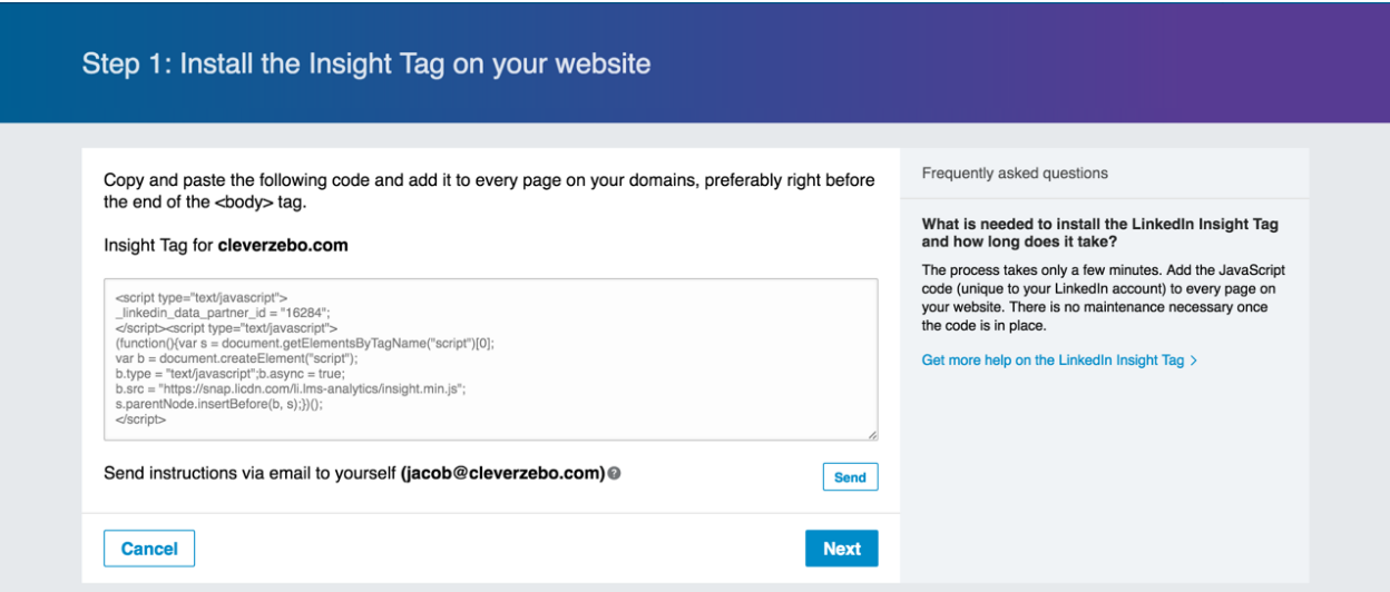 Linkedin Conversion Tracking Pixel | Clever Zebo